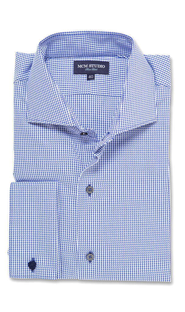 Admiral Blue- Men's Slim Fit/ French Cuff