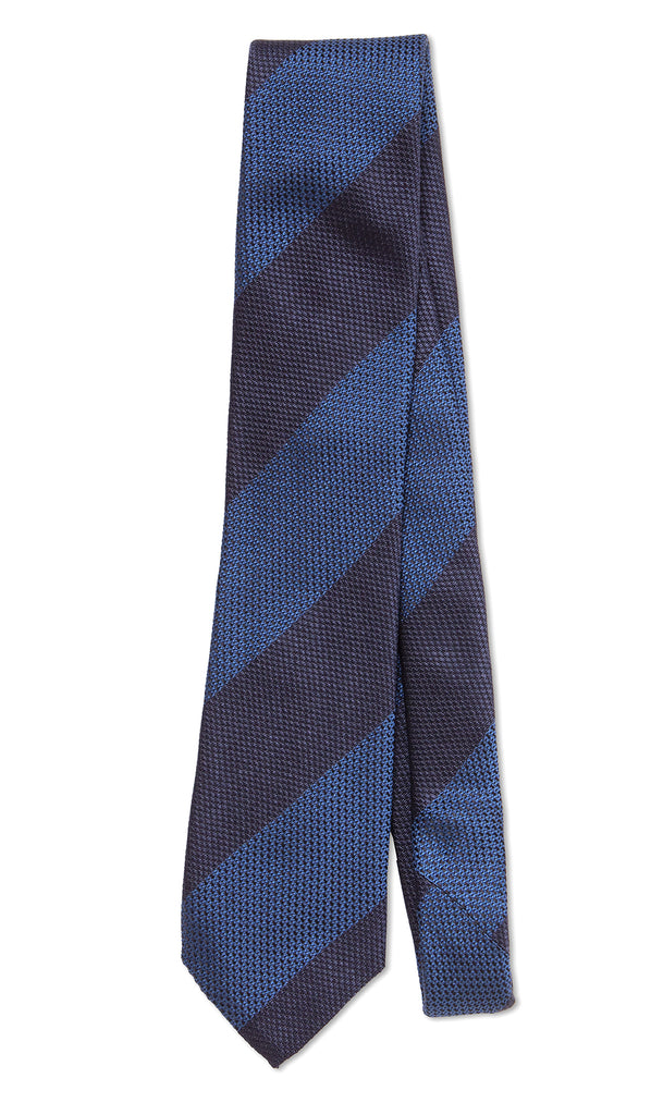 Firenze Tie Navy Blue Steel - MCM Studio