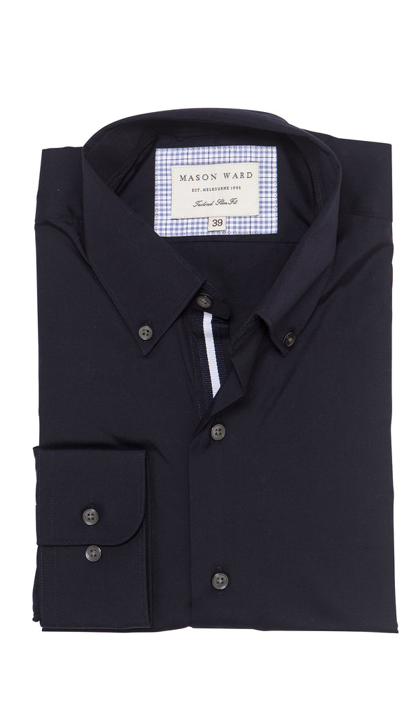 Mason Ward Odense Navy Slim Fit/ Regular Cuff Shirt