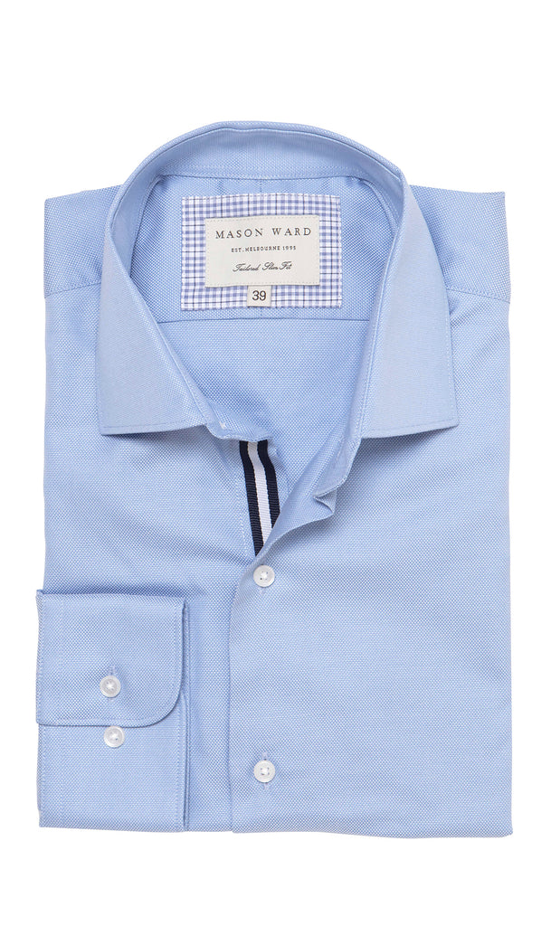 Mason Ward Hyllis Blue Oxford Slim Fit/ Regular Cuff Shirt