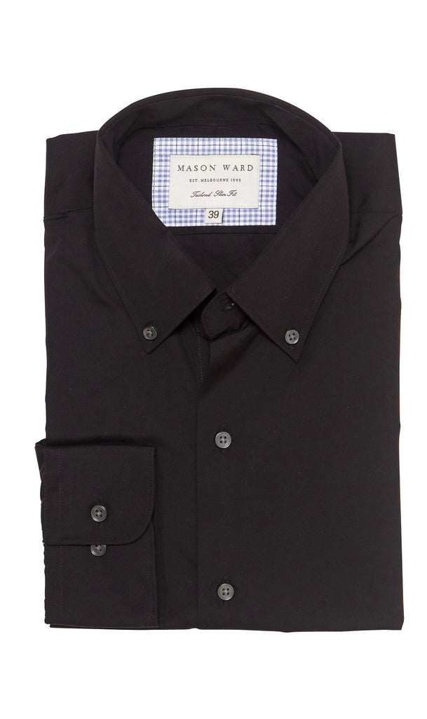 Mason Ward Skagen Black Slim Fit/ Regular Cuff Shirt