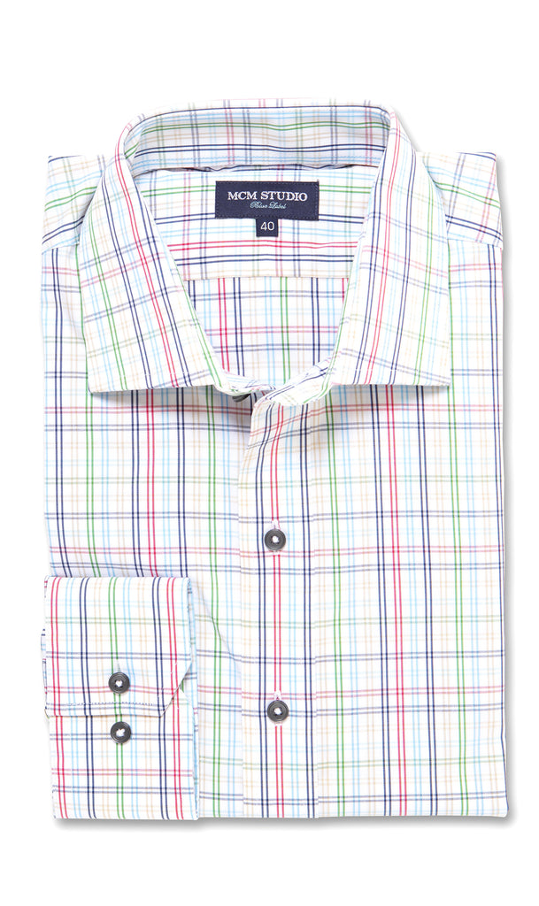 Augusta Multi Check - Men's Fashion Fit/ Button Cuff - MCM Studio