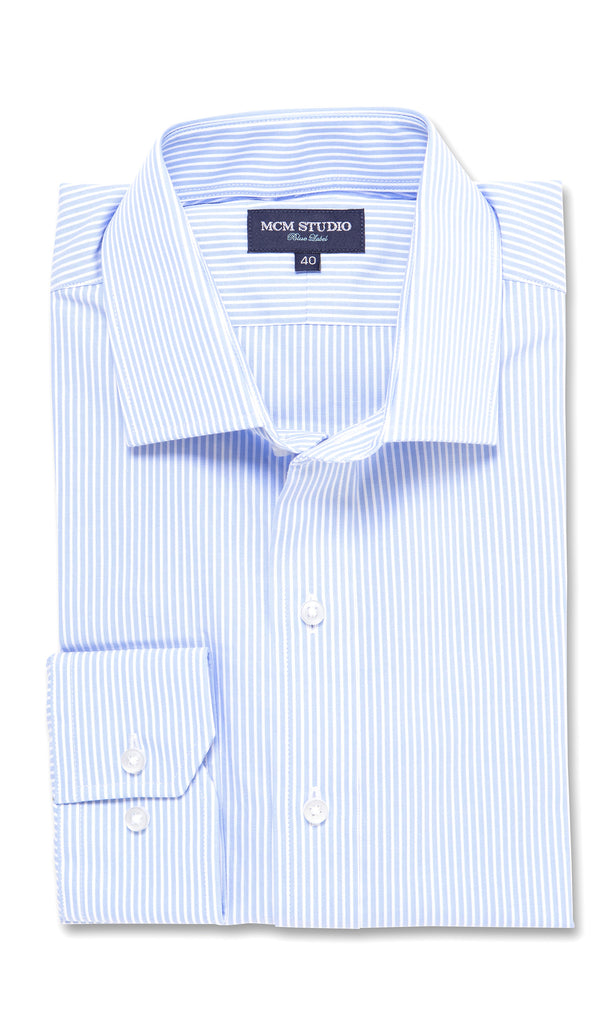 Alden Stripe - Men's Fashion Fit/ Button Cuff - MCM Studio