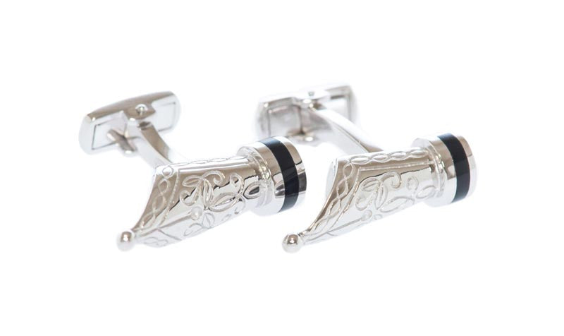 Fountain Pen Silver Cufflinks - MCM Studio