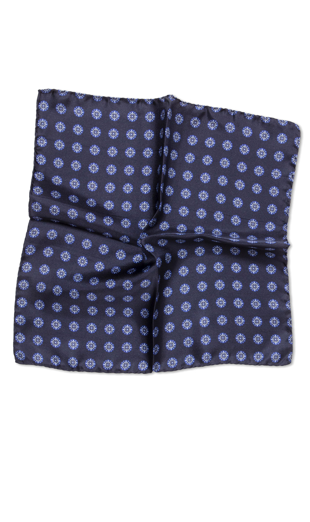 Cerrini Navy Cobalt Pocket Square - MCM Studio