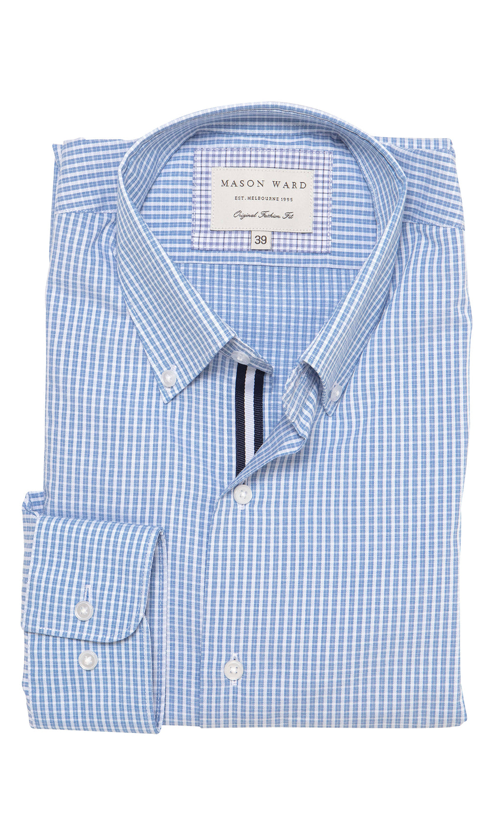 Mason Ward Hillerod Button Down Men's Fashion Fit/ Regular Cuff Shirt