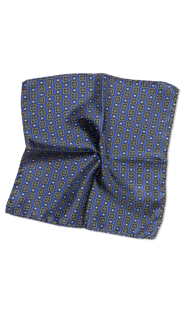 Carlo Blue Green Pocket Square - MCM Studio
