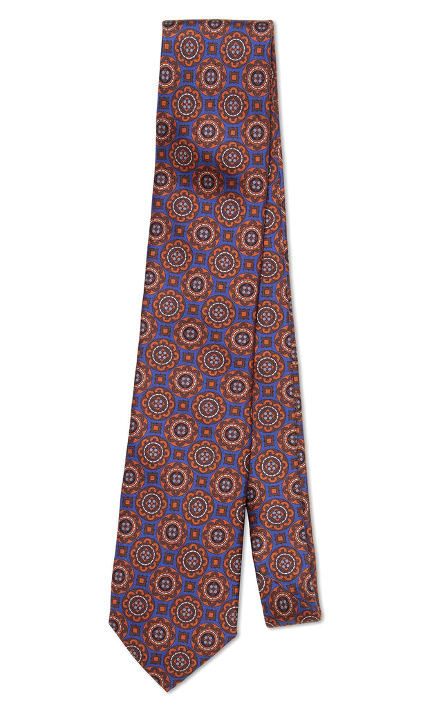 Salvatore Tie Tuscan Orange Blue - MCM Studio