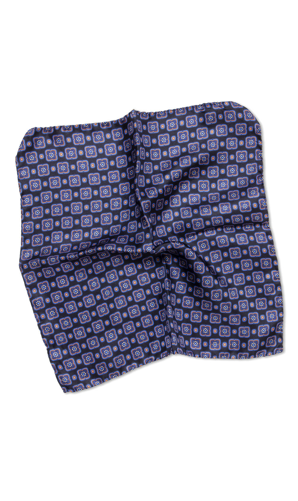 Duccio Blue Pocket Square - MCM Studio
