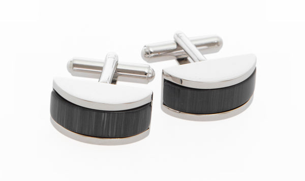 Alessandro Mother of Pearl Cufflins Charcoal - MCM Studio