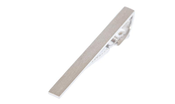 Classic Brushed Silver Tie Bar