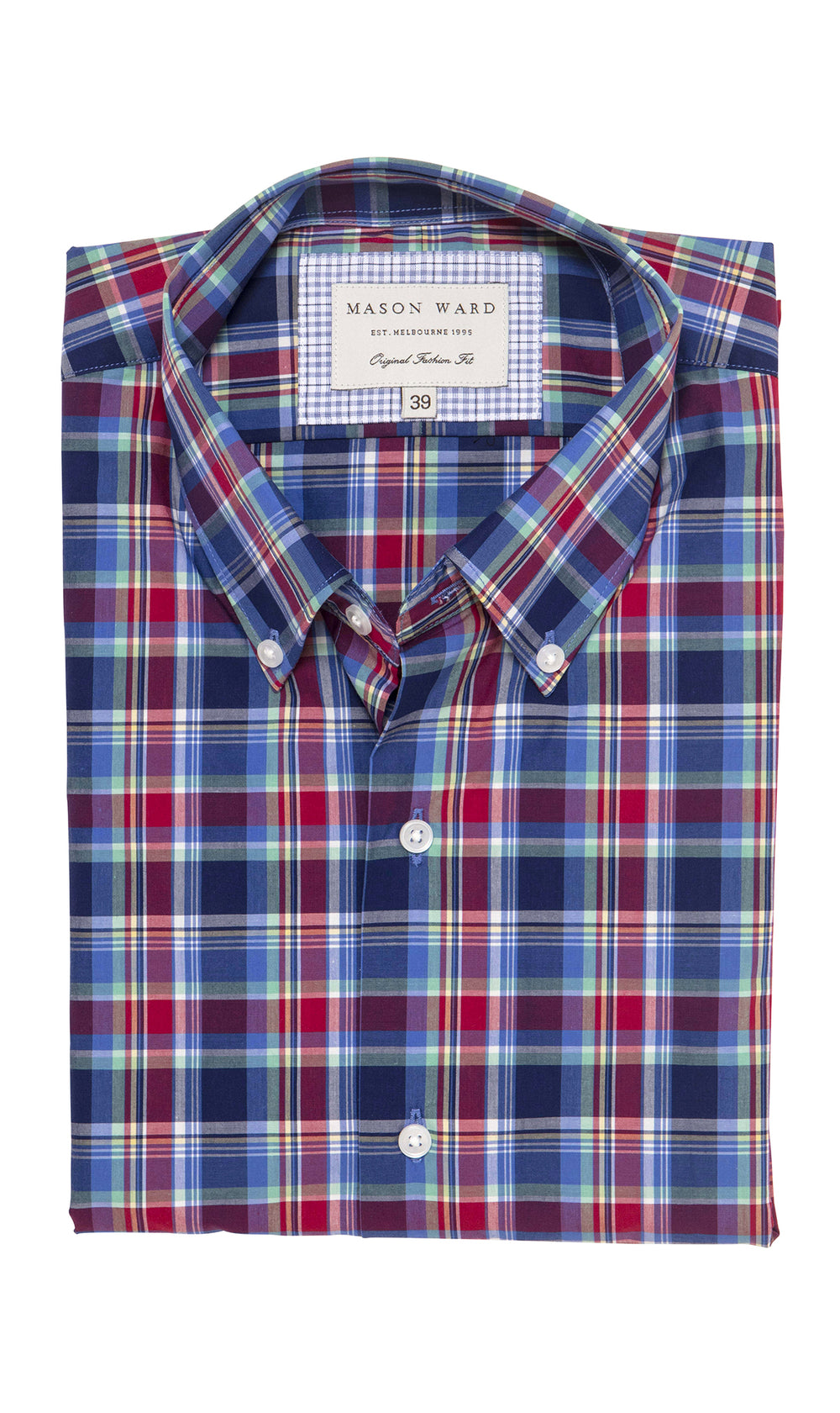 Mason Ward Trelleborg Casual Check Fashion Fit/ Regular Cuff Shirt
