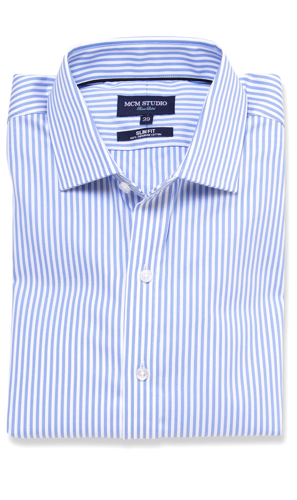 BALTIMORE SLIM FIT BLUE LABEL SHIRT - MCM Studio