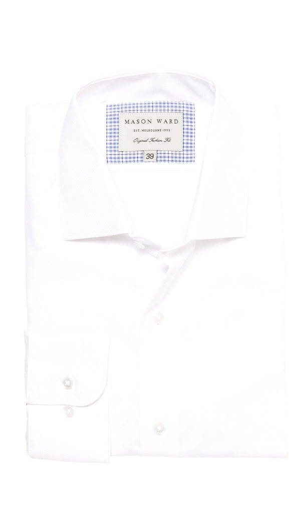 Mason Ward Aarhus White Royal Oxford Fashion Fit/ Regular Cuff Shirt