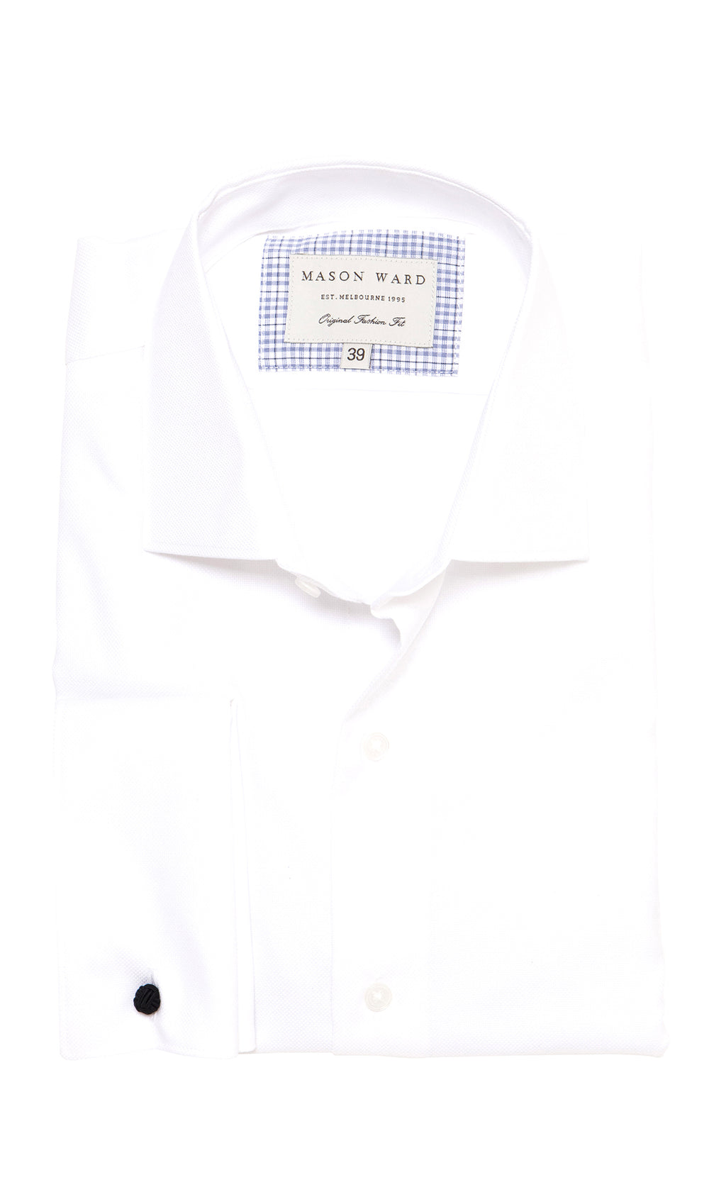 Mason Ward Aarhus White Royal Oxford Fashion Fit/ Double Cuff Shirt