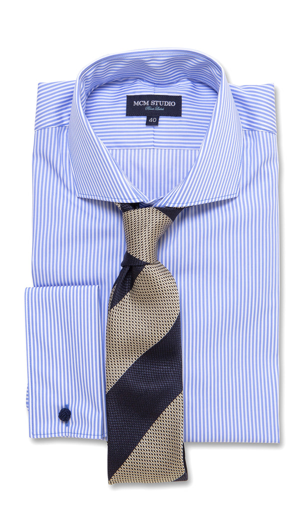 Anton Stripe - Men's Slim Fit/ French Cuff