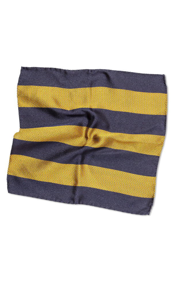 Roman Gold Navy Pocket Square - MCM Studio