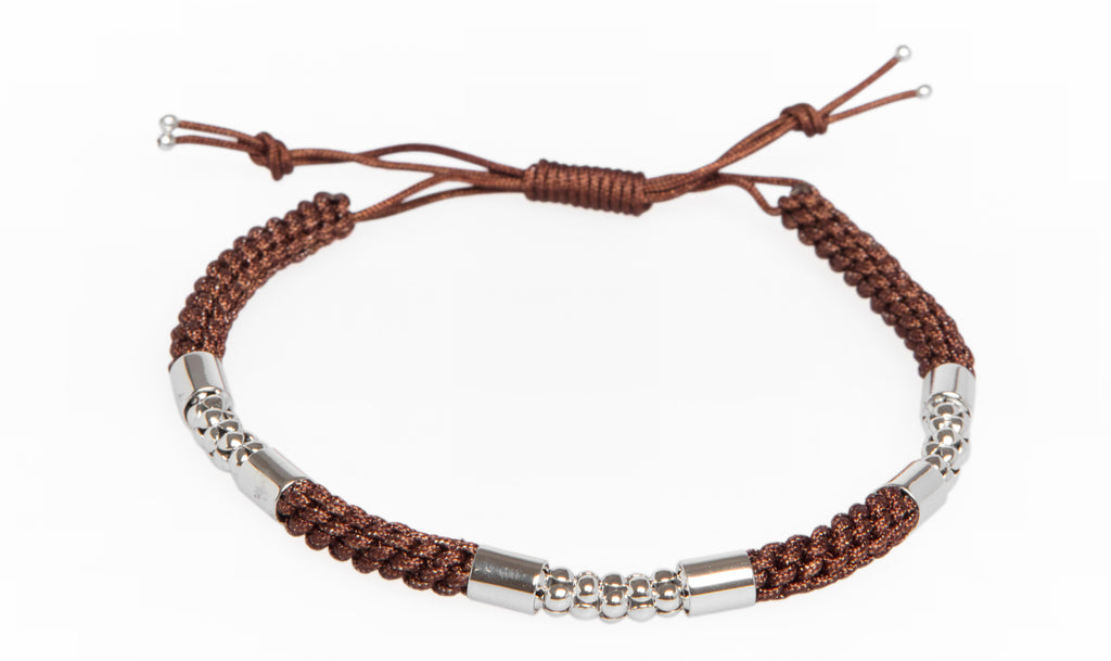 Sterling Silver Bracelet Brown - MCM Studio