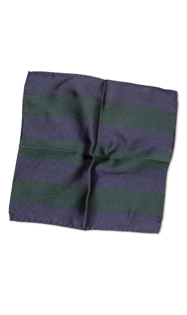 Firenze Emerald Navy Pocket Square - MCM Studio