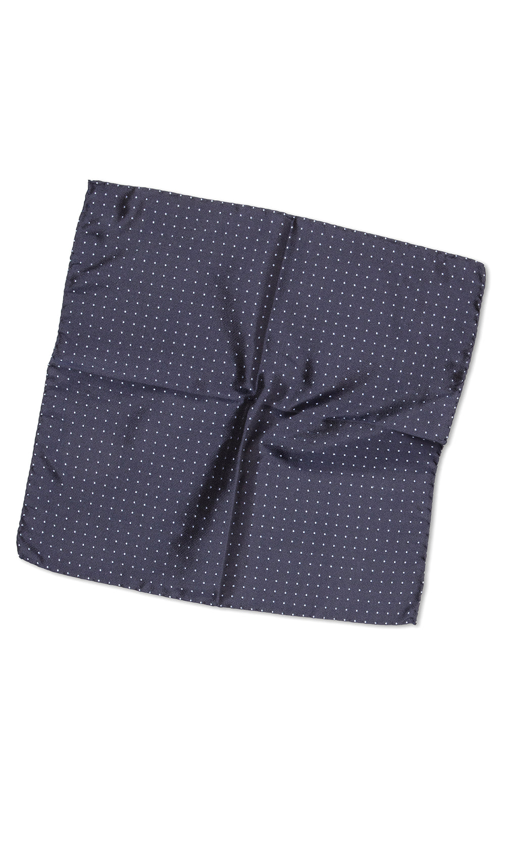 Cantini Navy Blue Dot Pocket Square - MCM Studio