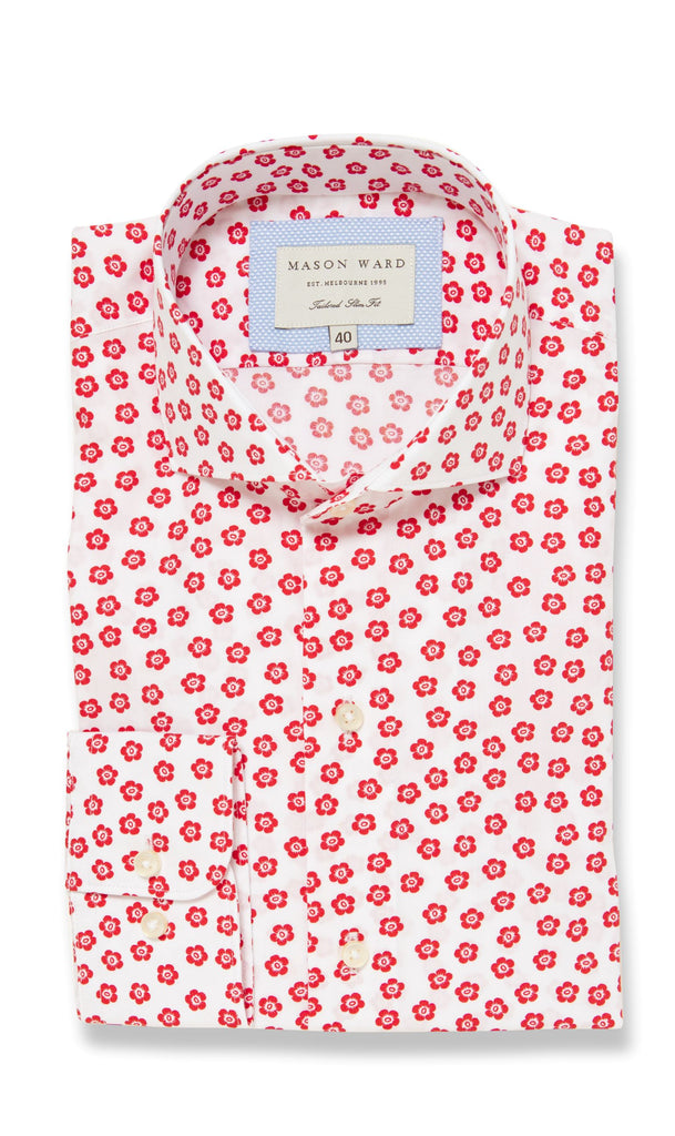 Tahiti Red - Slim Fit Casual Shirt