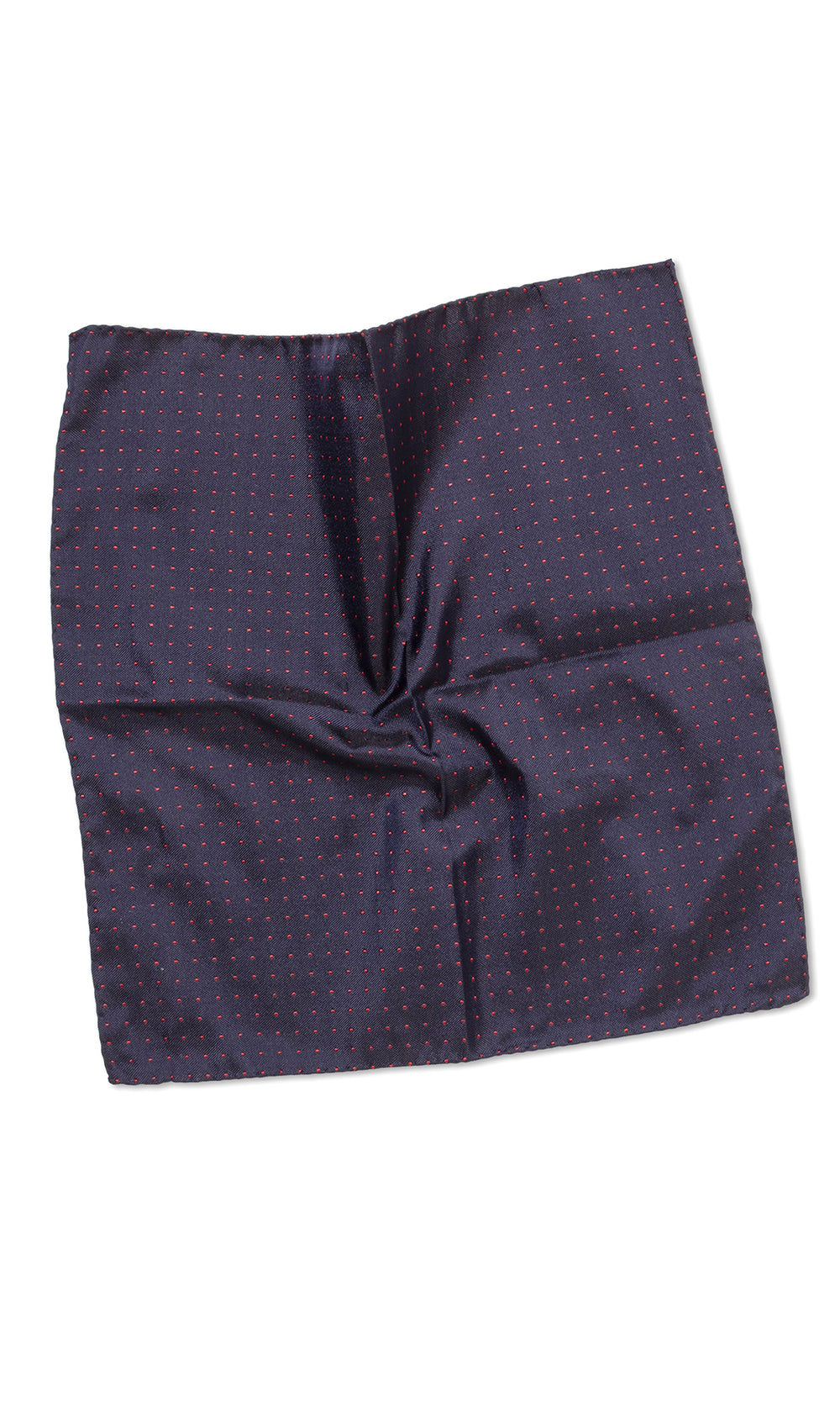 Cantini Navy Gold Dot Pocket Square - MCM Studio