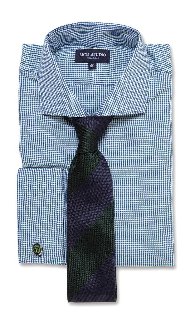 Ascot Green- Men's Slim Fit/ French Cuff