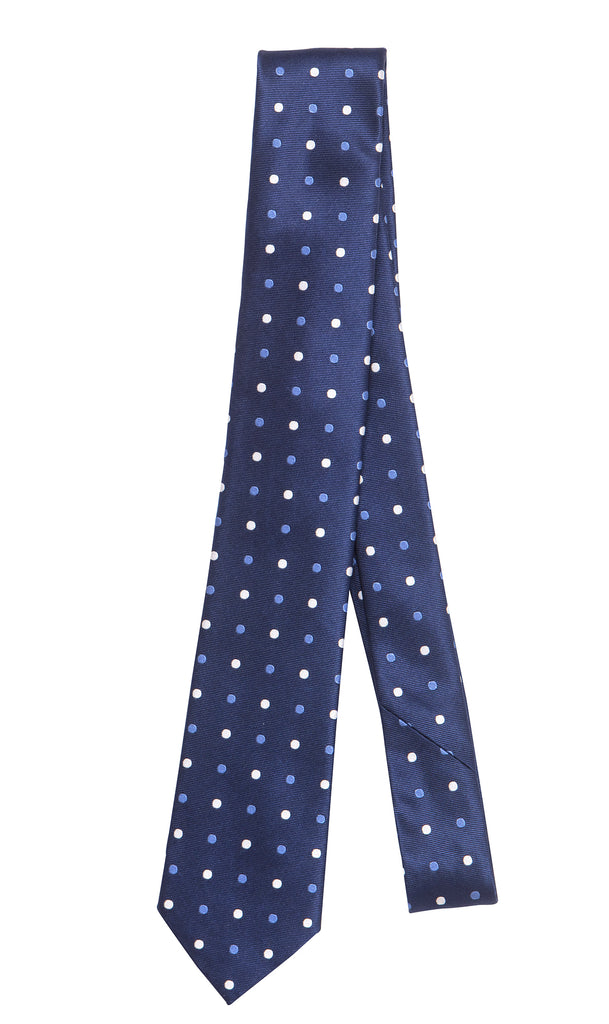 Cannes Blue Spot Tie by Daniel Hechter Paris
