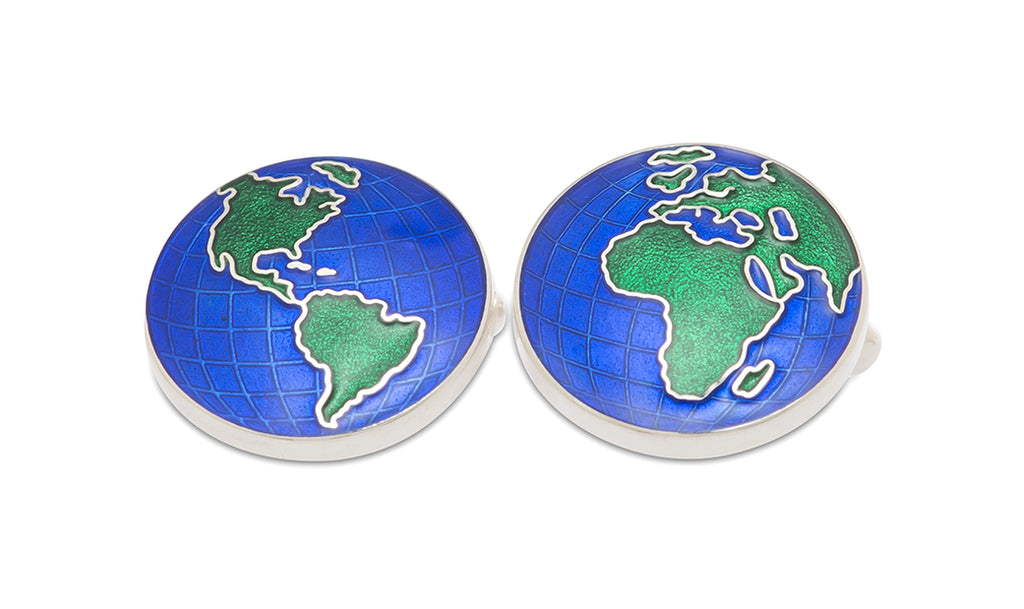 Sterling Global Enamel Cufflinks