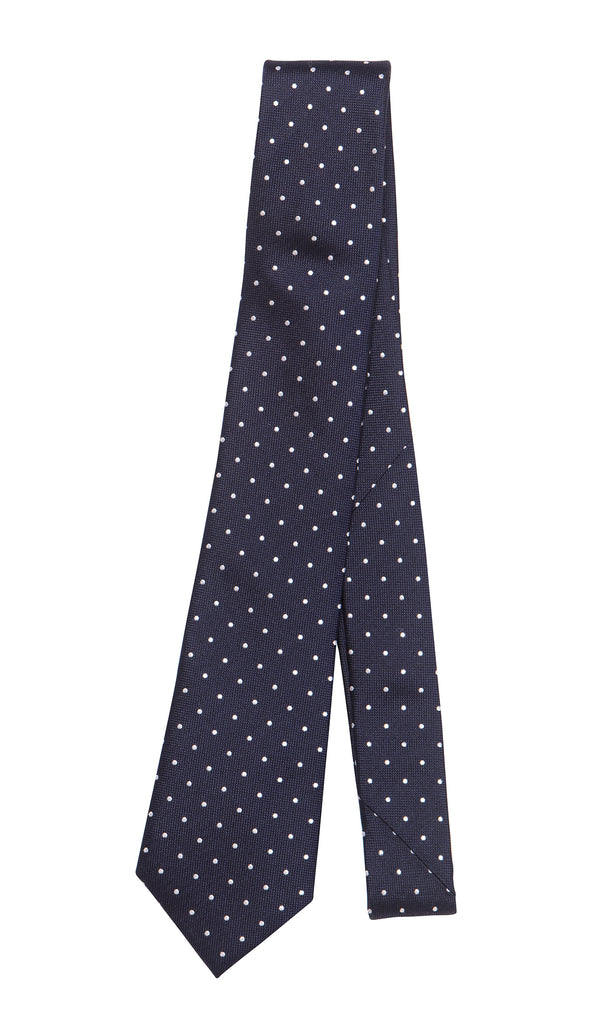 Calais Navy White Spot Tie by Daniel Hechter Paris