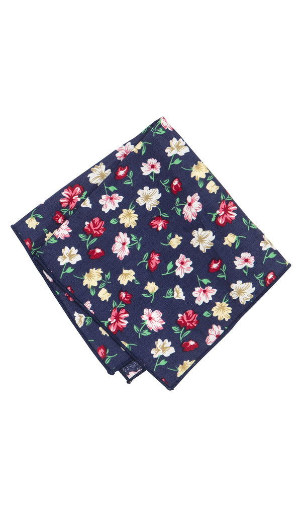 Matisse Floral Cotton Pocket Square