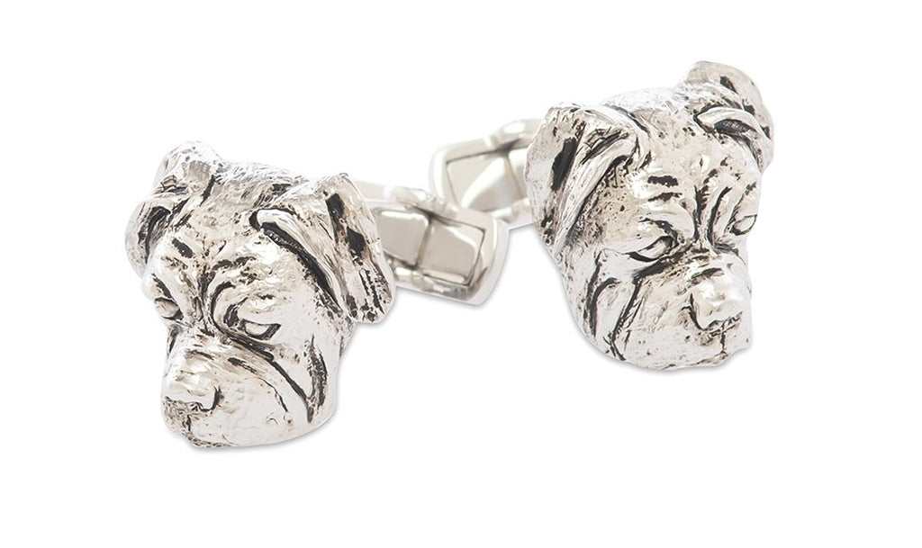 Bulldog Sterling Silver Cufflinks