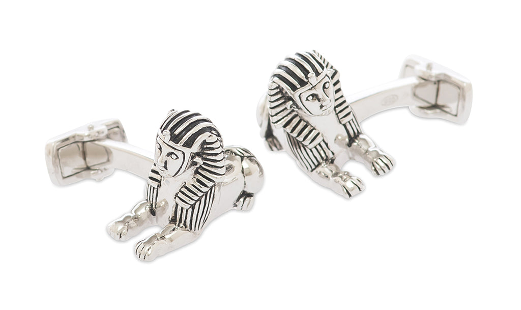 Sphinx Sterling Silver Cufflinks