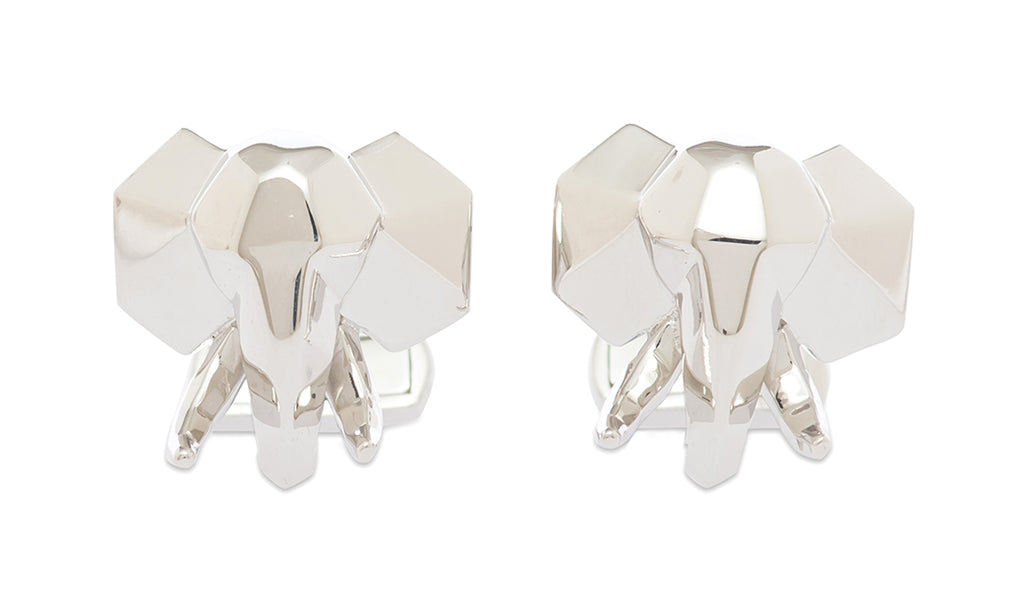 Sterling Faceted Tusk Cufflinks