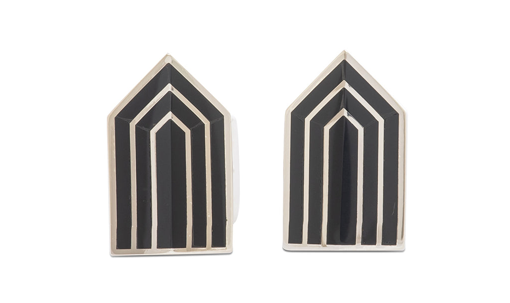 Sterling Onyx Arrow Cufflinks - MCM Studio