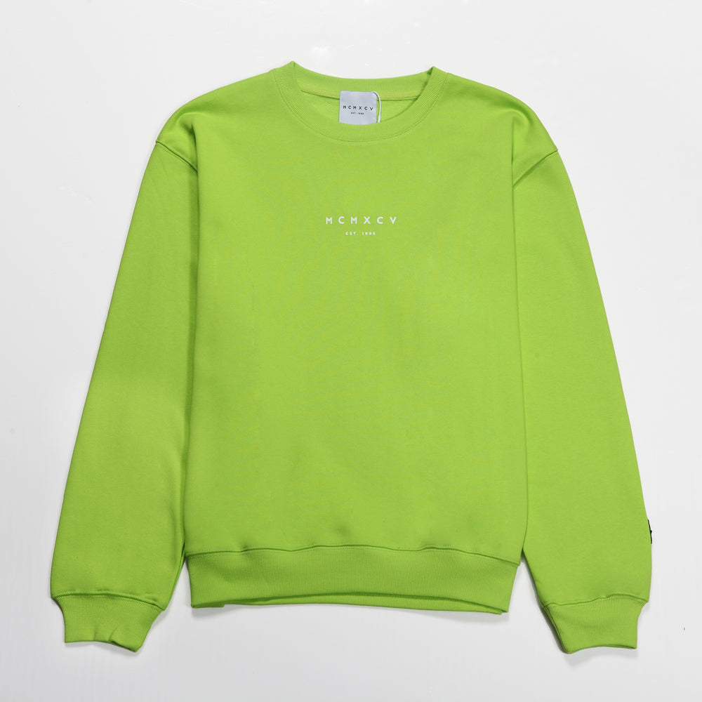 MCMXCV Cotton Terry Unisex Oversize Sweater Lime Green