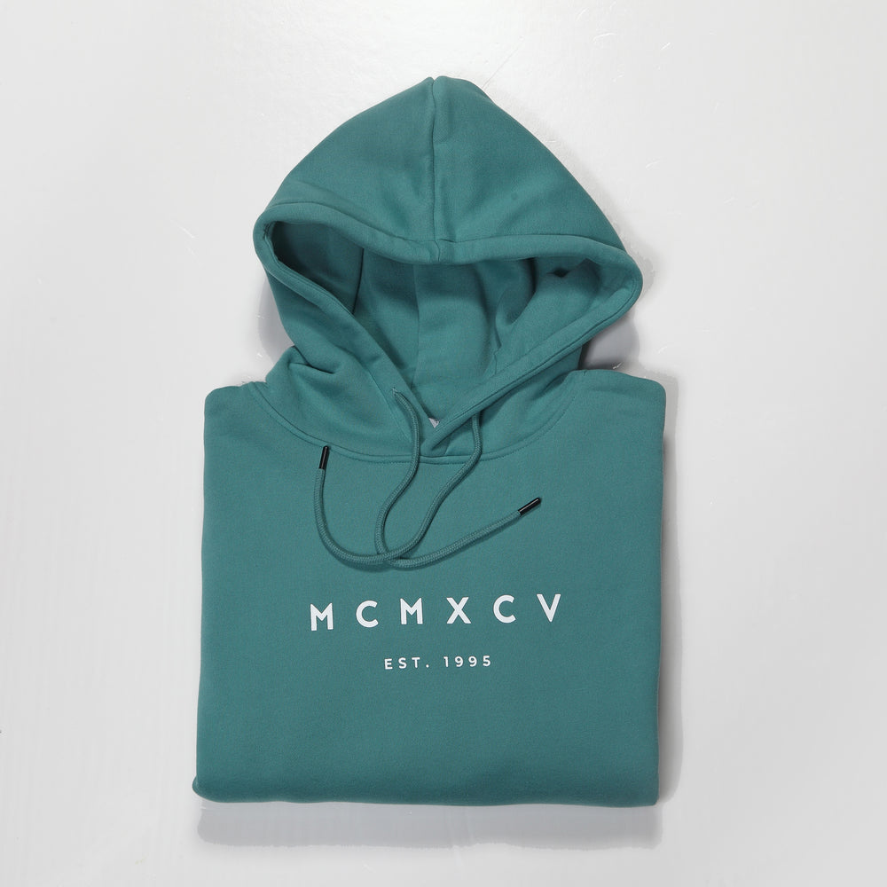 MCM Studio MCMXCV Cotton Fleece Unisex Hoodie Atlantic Green