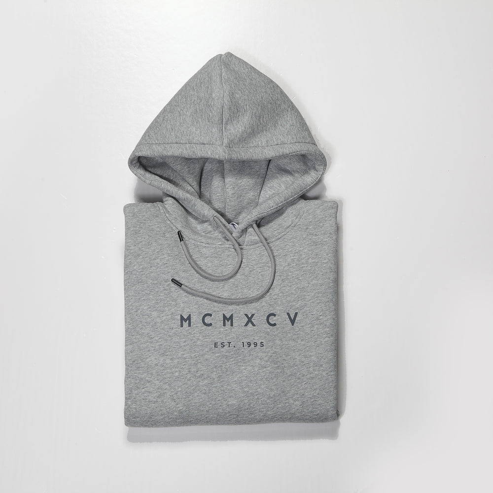 MCMXCV Cotton Fleece Unisex Hoodie Earl Grey