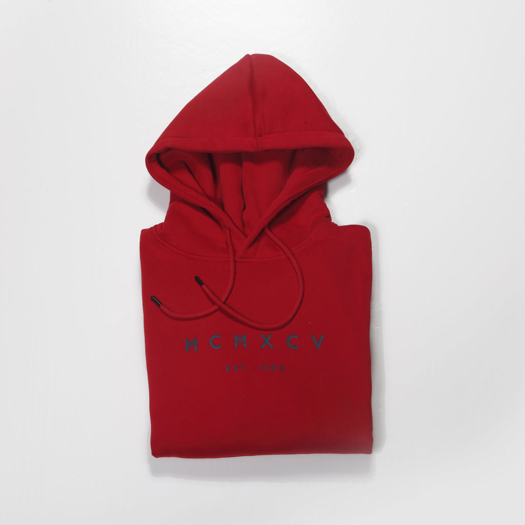 MCMXCV Cotton Fleece Unisex Hoodie Florence Red