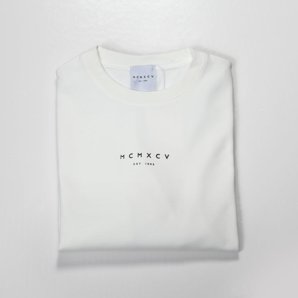 MCMXCV Cotton Terry Unisex Oversize Sweater Ice White