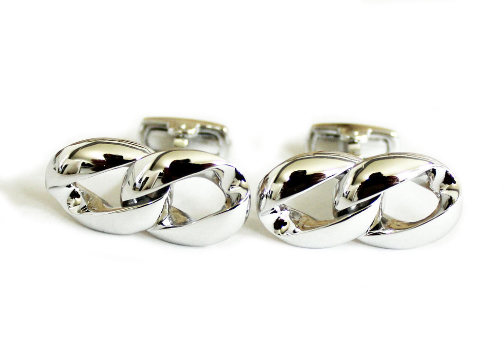 Infinity Chain Sterling Silver Cufflinks