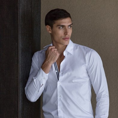 Mason Ward Odense Slim Fit/ Regular Cuff Shirt White