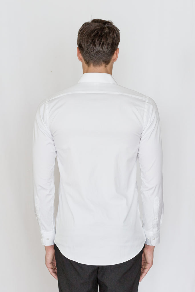 Mason Ward Lund White Fine Oxford Slim Fit/ Regular Cuff Shirt