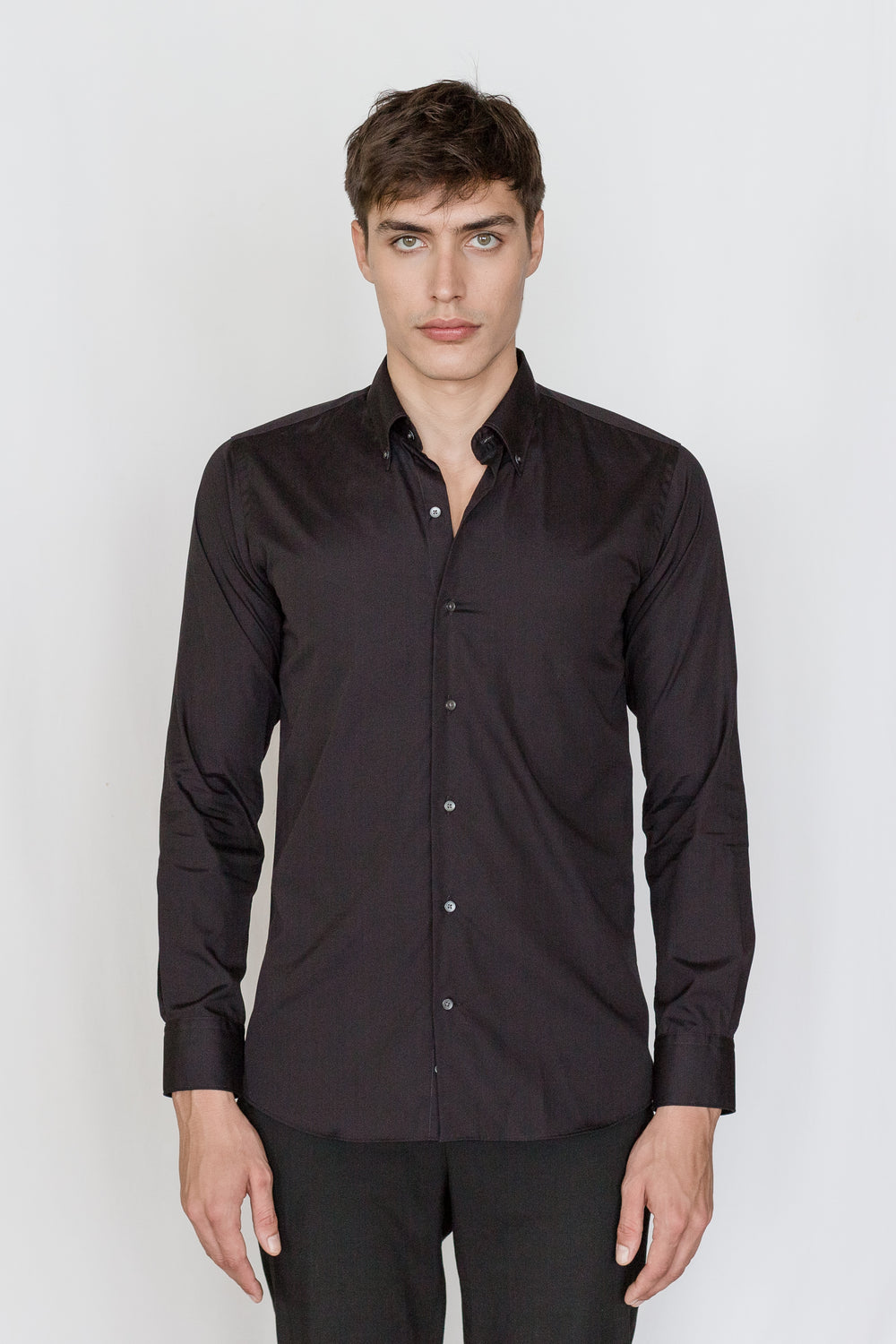 Mason Ward Odense Black Slim Fit/ Regular Cuff Shirt