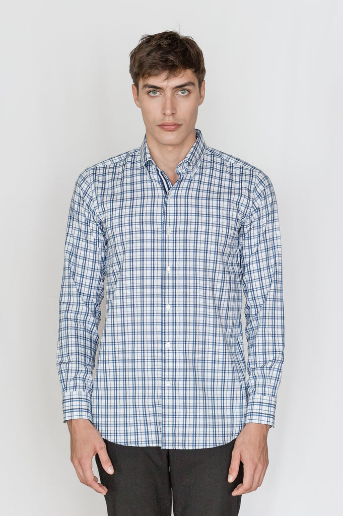 Mason Ward Skane Indigo Casual Check Fashion Fit/ Regular Cuff Shirt