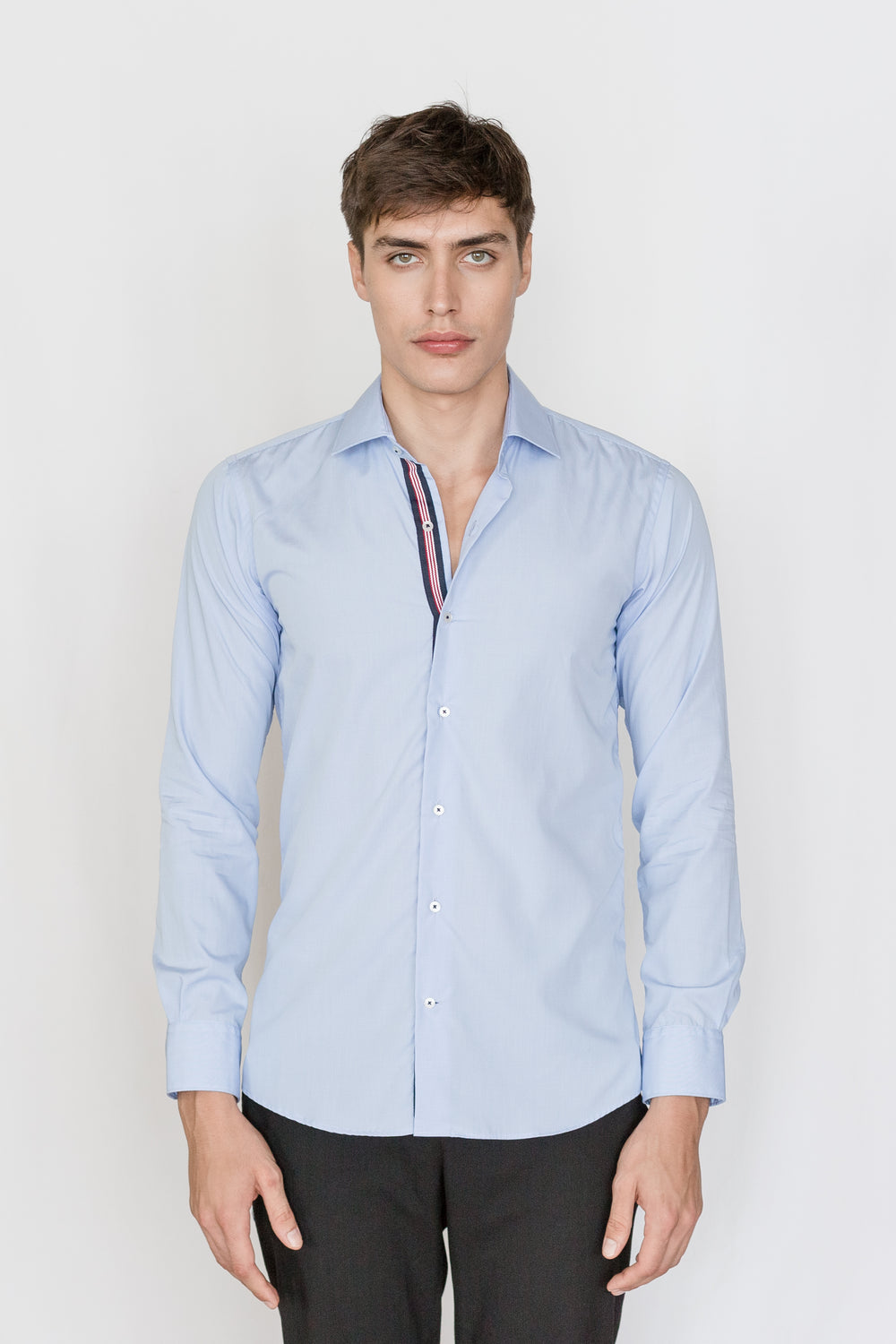 Mason Ward Esbjerg Blue Slim Fit/ Regular Cuff Shirt