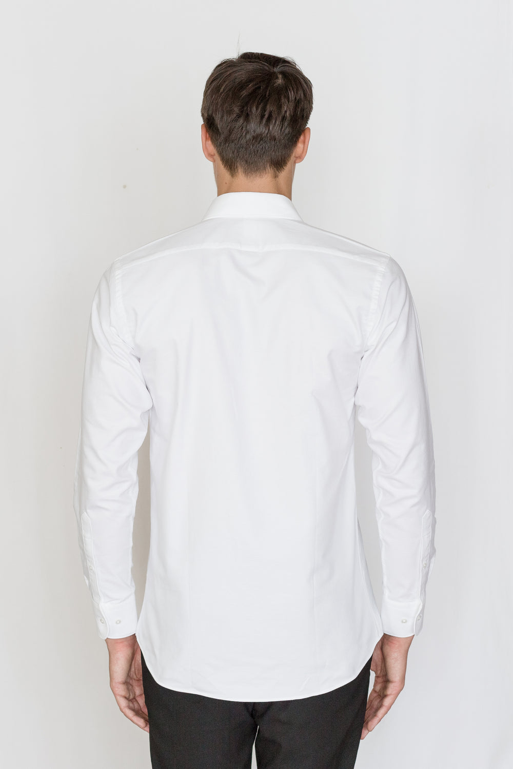 Mason Ward Amsterdam  White Heavy Oxford Fashion Fit/ Regular Cuff Shirt