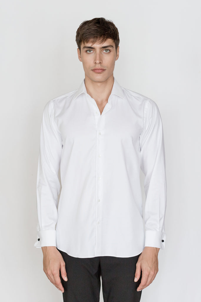 Mason Ward Copenhagen White Fine Oxford Slim Fit/ Double Cuff Shirt