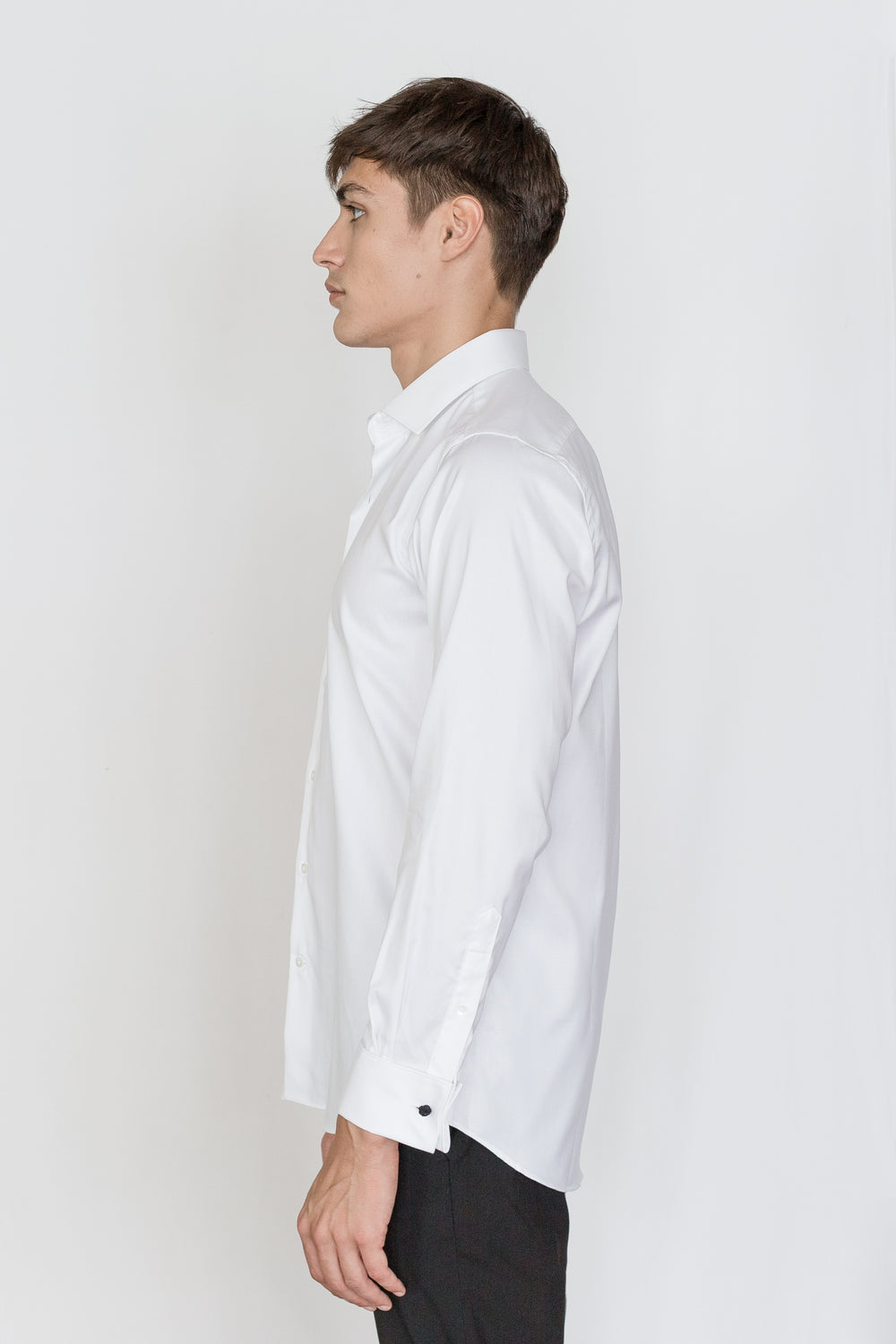 Mason Ward Aarhus White Oxford Fashion Fit/ Double Cuff Shirt