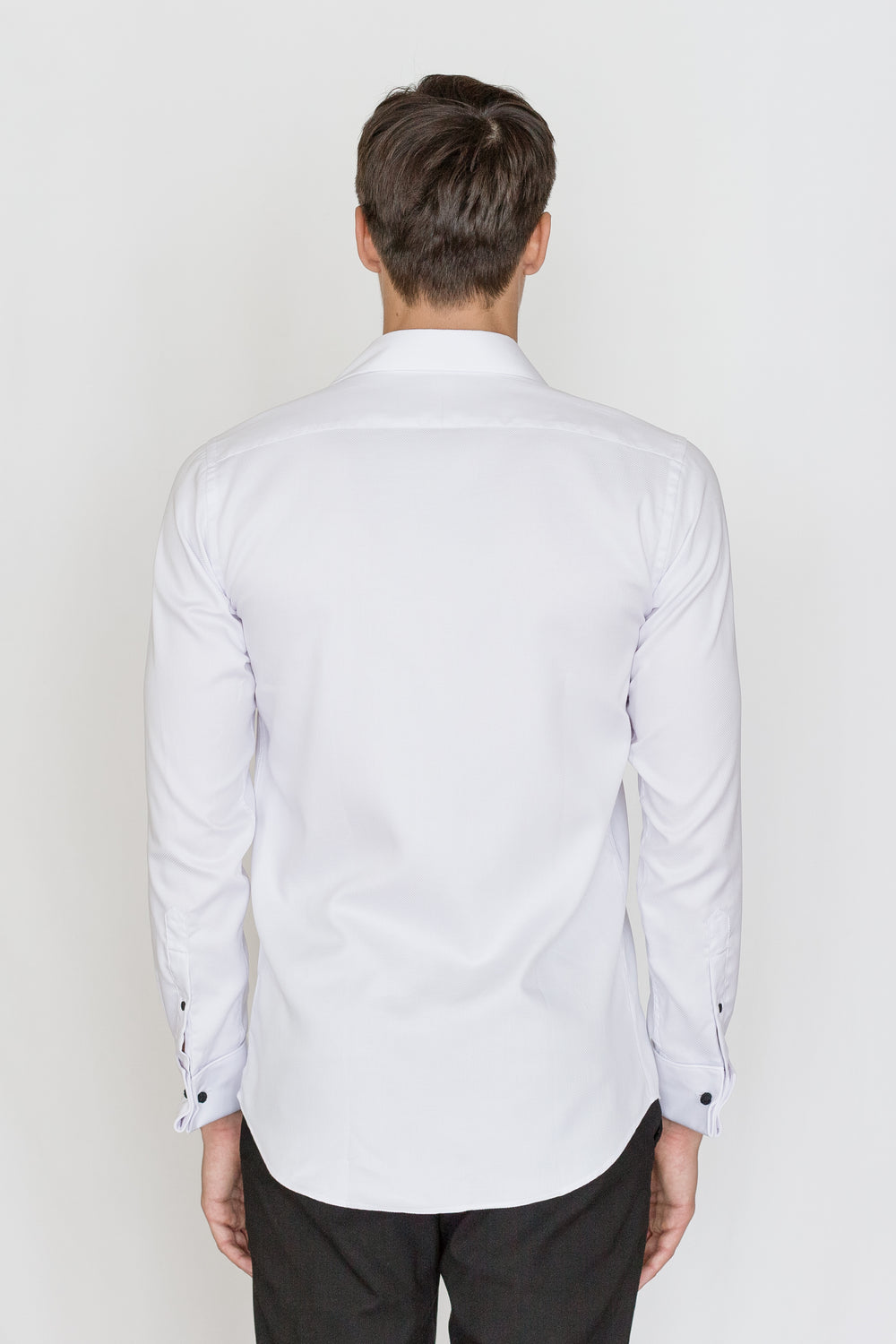 Mason Ward Skara White Pearl Tuxedo Style Slim Fit/ Double Cuff Shirt